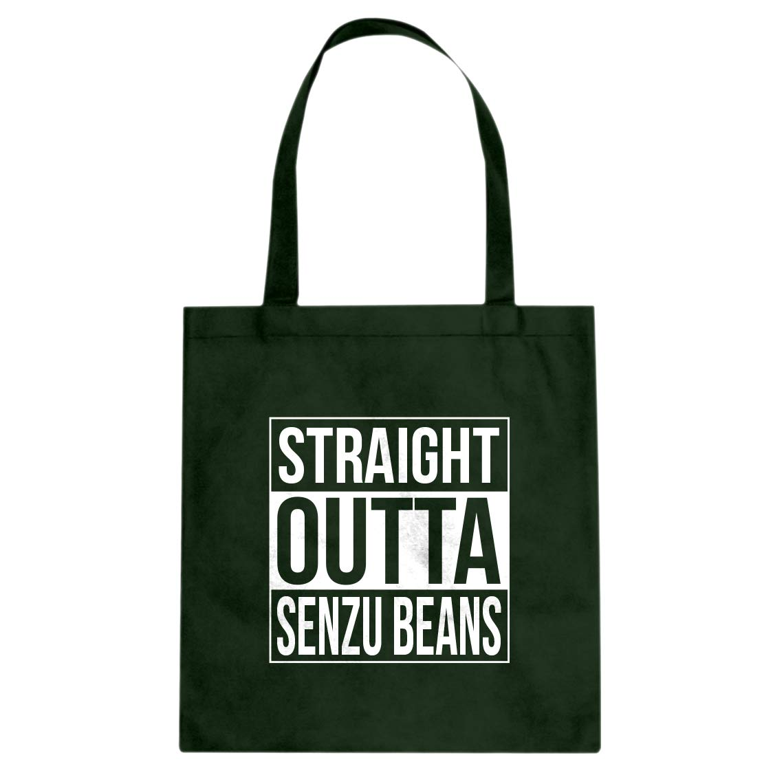Indica Plateau Straight Outta Senzu Beans Cotton Canvas Tote Bag