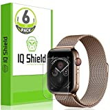 [6-Pack] IQ Shield LiQuidSkin Clear [Easy Install] Screen Protector for Apple Watch Series 4 (44mm) Bubble Free Film