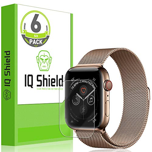 - IQ Shield Screen Protector Compatible with Apple Watch Series 4 (44mm)(6-Pack)(Easy Install) LiquidSkin Anti-Bubble Clear Film