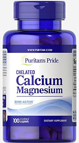 Puritan's Pride Chelated Calcium Magnesium-100 Caplets