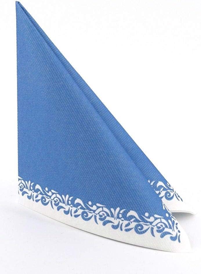 APARTina 50 Servietten blau 40x40 cm stoff/ähnlich Airlaid Romantique himmelblau