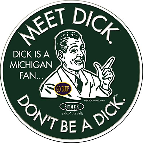 Michigan State Spartans Fans. Don't Be A Dick. Embossed Metal Man Cave Sign