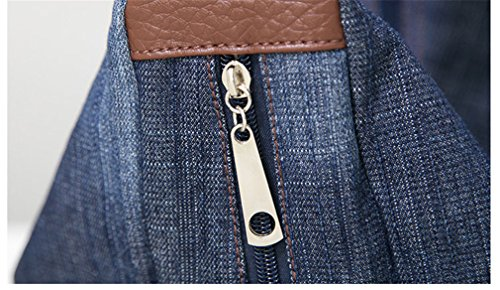 Big Ladies Handbag Bag Ladies Denim Bag Tote Handbag Shoulder Jeans Crossbody Shoulder Blue 2 n6TE6Wg
