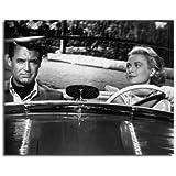 CARY GRANT, GRACE KELLY TO CATCH A THIEF - Photo cinématographique en noir et blanc - (Choix de 4 tailles)