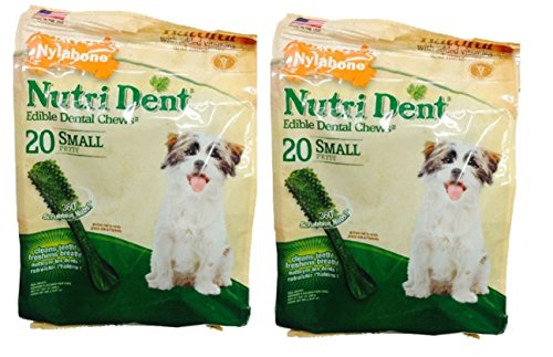 Nylabone Nutrident Edible Dental Chews Chicken Flavor for...