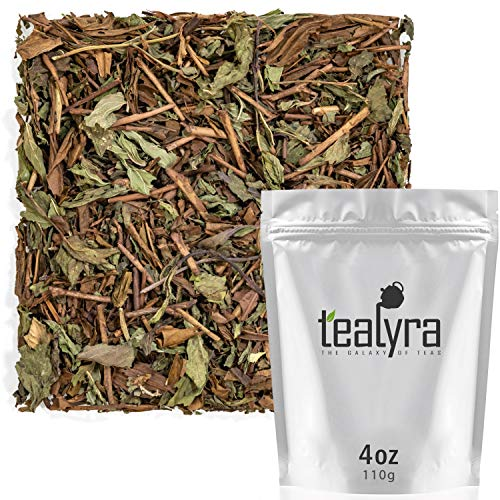 (Tealyra - Thin Mint - Hojicha Japanese Roasted Green Tea with Spearmint Leaves - Natural Ingredients - Loose Leaf Tea - Very Low Caffeine - Blend - 4-ounce (110g))