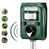 Animal Pest Repeller, Solar Powered Ultrasonic Pest Repellent, Effective Outdoor Waterproof with LED