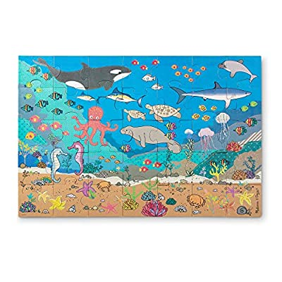 Melissa & Doug Natural Play Giant Floor Puzzle: Under the Sea (35 Pieces): Toys & Games