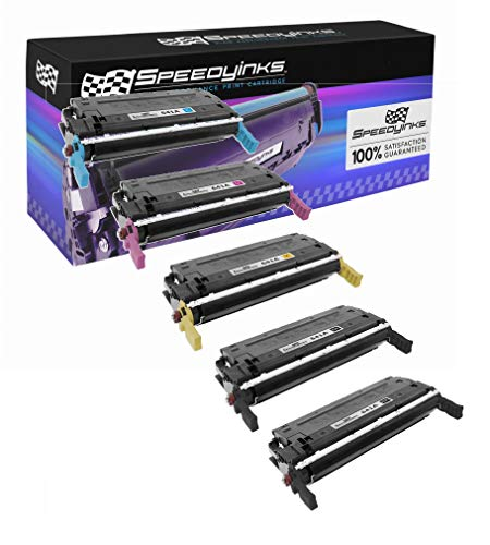 Speedy Inks Remanufactured Toner Cartridge Replacement for HP 641A (2 Black, 1 Cyan, 1 Magenta, 1 Yellow, 5-Pack) - Hp C9721a Cyan Laser
