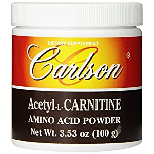 Carlson Labs Acetyl L Carnitine Powder, 100g
