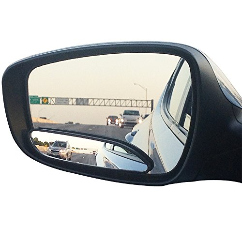 long design Car Mirror for blind side by Utopicar for traffic safety. Door mirrors for great rear view! [stick-on] (2 pack) ()