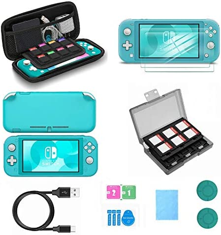 [해외]Switch Lite Accessories VOKOO Nintendo Switch Lite case Protective Cover Case Switch Lite Screen Protector SD Card Case and USB-C Charging Cable CompatibleNintendo Switch Lite 7-in-1 (Blue) / Switch Lite Accessories, VOKOO Nintendo...