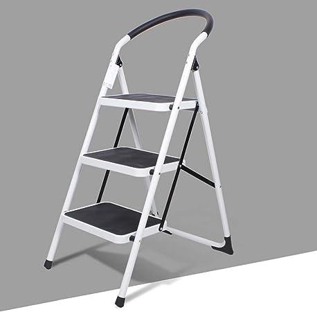 SMBYLL Taburete Escalonado Escalera de Escalera Plegable para el hogar Engrosamiento Escalera de Escalada Escalera pequeña de Tres Pasos Escalera Interior multifunción Taburete Escalera: Amazon.es: Hogar