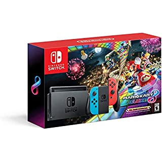 Nintendo Switch with Neon Blue and Neon Red Joy‑Con HAC-001 w/ Mario Kart 8 Deluxe