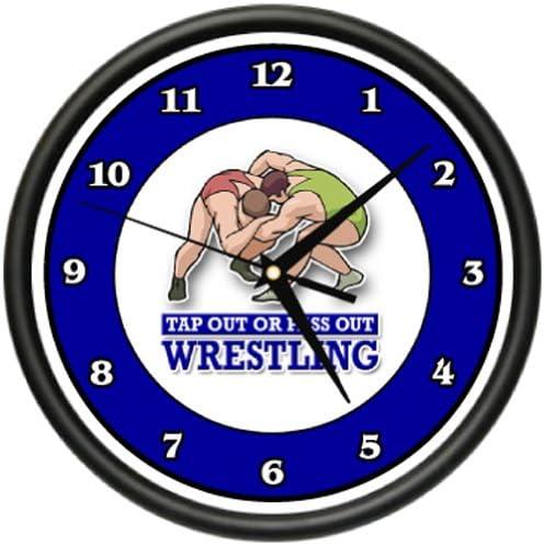 Wrestling Wall Clock Wrestle Sport Combat Holds Grappling pins Gag Gift