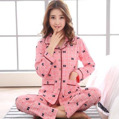 MH-RITA Nuevo Invierno Pijamas Mujer Algodón Dama Mujer pijamas conjuntos pijamas Floral Pocket Femme dormir Manga Larga Collar Turn-Down Xxxl,Estilo 18,l: ...