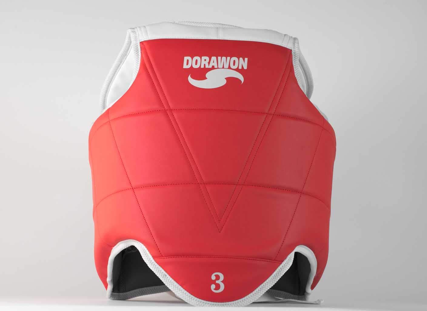 Dorawon Busan Peto de Taekwondo Unisex Infantil, Unisex niñ os, Color Rojo/Azul, tamañ o 0 Unisex niños tamaño 0 DORZT|#Dorawon Z06Z0Busan672Bicolore