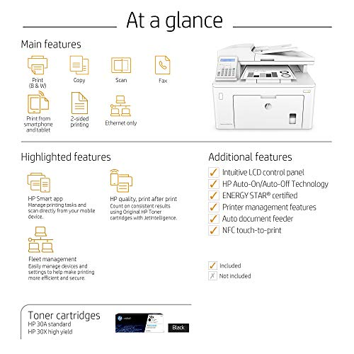 HP LaserJet Pro M227fdn All in One Laser Printer with Print Security, Amazon Dash Replenishment ready (G3Q79A). Replaces HP M225dn Laser Printer by HP (Image #5)