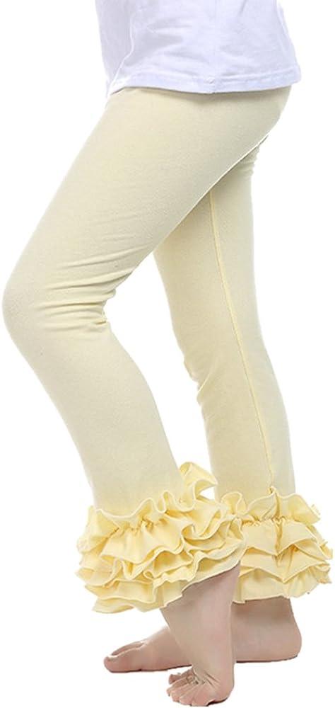 De feuilles - Leggings Largos para niña, Multipack, Pantalones de Yoga, Pantalones Largos, Medias de algodón, Cintura Alta, monocromáticos, 2-6 años Amarillo XXXL: Amazon.es: Ropa y accesorios