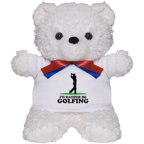 CafePress - I'd Rather Be Golfing - Teddy Bear, Plush Stuffed Animal (Golfing Teddy Bear)