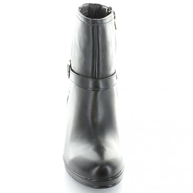 01e0b76490d72 Flexi- Botín Negro de Piel Bota para Mujer Negro Talla 23  Amazon.com.mx   Ropa, Zapatos y Accesorios