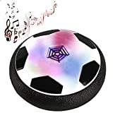 Gosear Novelty Kid's Air Power Soccer Football with LED Light and Foam Bumpers Toy for Children Boys Girls with Parents Indoor Outdoor Activities Training Floating Disk Hover Ball Game