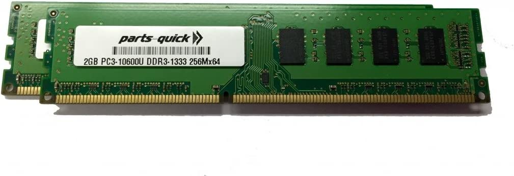 Memory Upgrade for HP Pavilion HPE h8-1222 PC3-10600 DDR3 1333 MHz DIMM Non-ECC Desktop RAM 2 X 2GB PARTS-QUICK Brand 4GB Kit