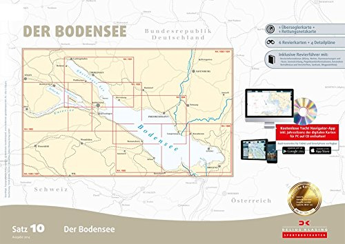 Sportbootkarten Satz 10: Bodensee (Ausgabe 2017, berichtigt bis 01/2014)