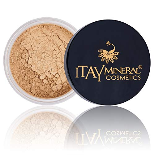 Itay Loose Powder Foundation Travel Size Foundation – All Natural Mineral Makeup By Itay Mineral Cosmetics (MF6 – Latte Meciatto)