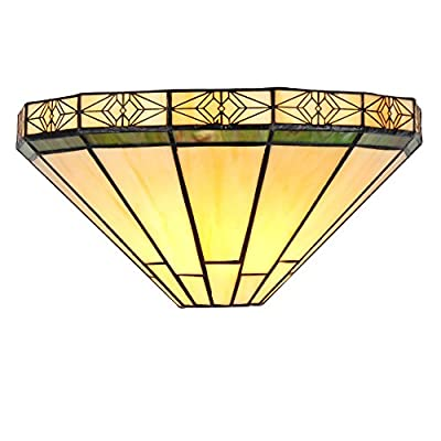 "Chloe Lighting CH31315MI12-WS1 Belle Tiffany-Style Wall Sconce with 12"" Wide"