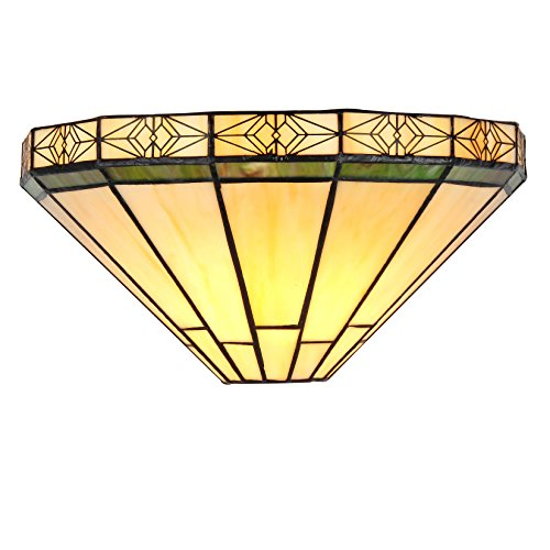 (Chloe Lighting CH31315MI12-WS1 Belle Tiffany-Style Wall Sconce with 12