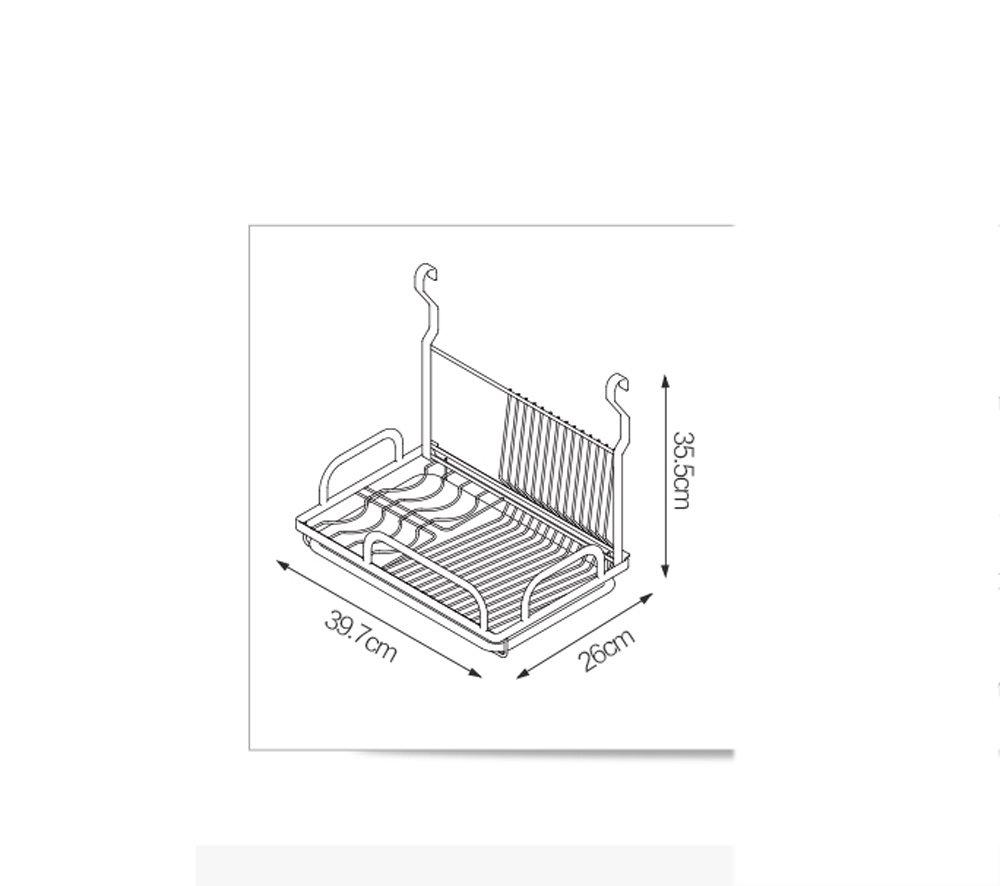 Hyun times Kitchen Pendant 304 Stainless Steel Hanging Rod Kitchen Utensils Dishui Kitchen And Toilet Rack Racks by Hyun times Bowl shelf (Image #2)