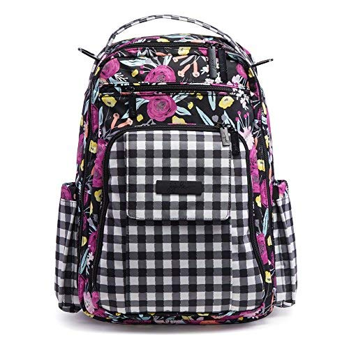 (Ju-Ju-Be Onyx Collection Be Right Back Backpack Diaper Bag, Gingham Bloom)