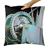 Westlake Art - Wheel Hardware - Decorative Throw Pillow Cushion - Picture Photography Artwork Home Decor Living Room - 18x18 Inch (D41D8)