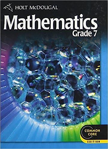 holt mcdougal mathematics grade 7 online textbook