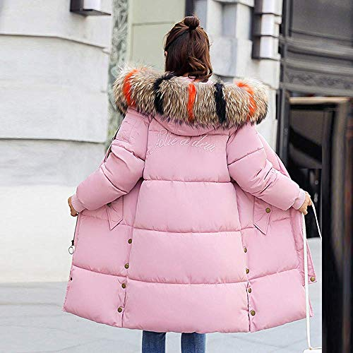 Cálido Para Acogedor Invierno Tight Señoras De Las Mujeres Super Grueso Larga Moda Calidad Salvaje Outcoat Piel Chaqueta Sintética Capucha Rosa Abrigo wIHXxw
