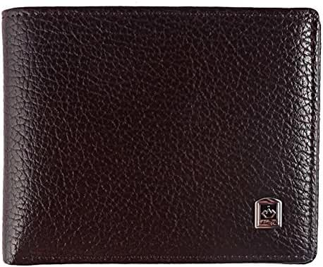 Men's Leather Bifold Wallet Flip Up ID Window With Gift Box