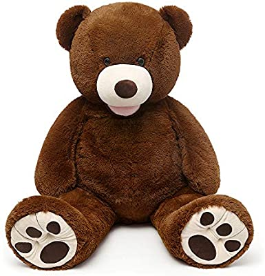 130CM Giant MorisMos Teddy Bear with Big Footprints Plush COVER ONLY Light Brown