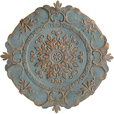 Stratton Home Decor Blue European Medallion Wall Decor, 30.50 W X 0.50 D X 30.50 H