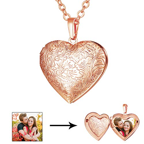 (U7 Locket Necklace with Rolo Chain 22