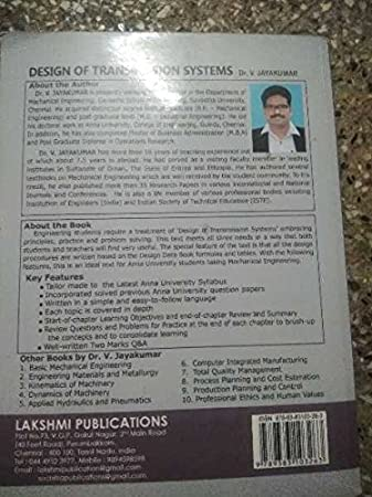 Design Of Transmission Systems By Jayakumar Pdf