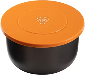 Goldlion Silicone Lid Inner Pot Cover Accessories Compatible with Ninja Foodi Pressure Cooker and Air Fryer 6.5 Quart and 8 Quart, Orange