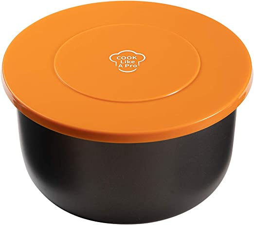 Nenazzz 6.5 Quart and 8 Quart Silicone Lid Compatible with Ninja Foodi Pressure Cooker and Air Fryer, orange