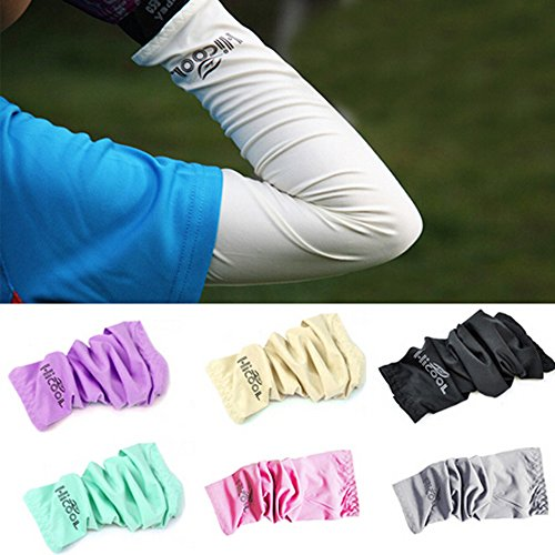 [Ezyoutdoor 10 Pair Cooling Arm Sleeves Cover UV Sun Block Protection for Camping Bivouac Hiking Exercise Sports Golf Riding Bike Outdoor Sports Random Color] (Uv Dance Costumes)