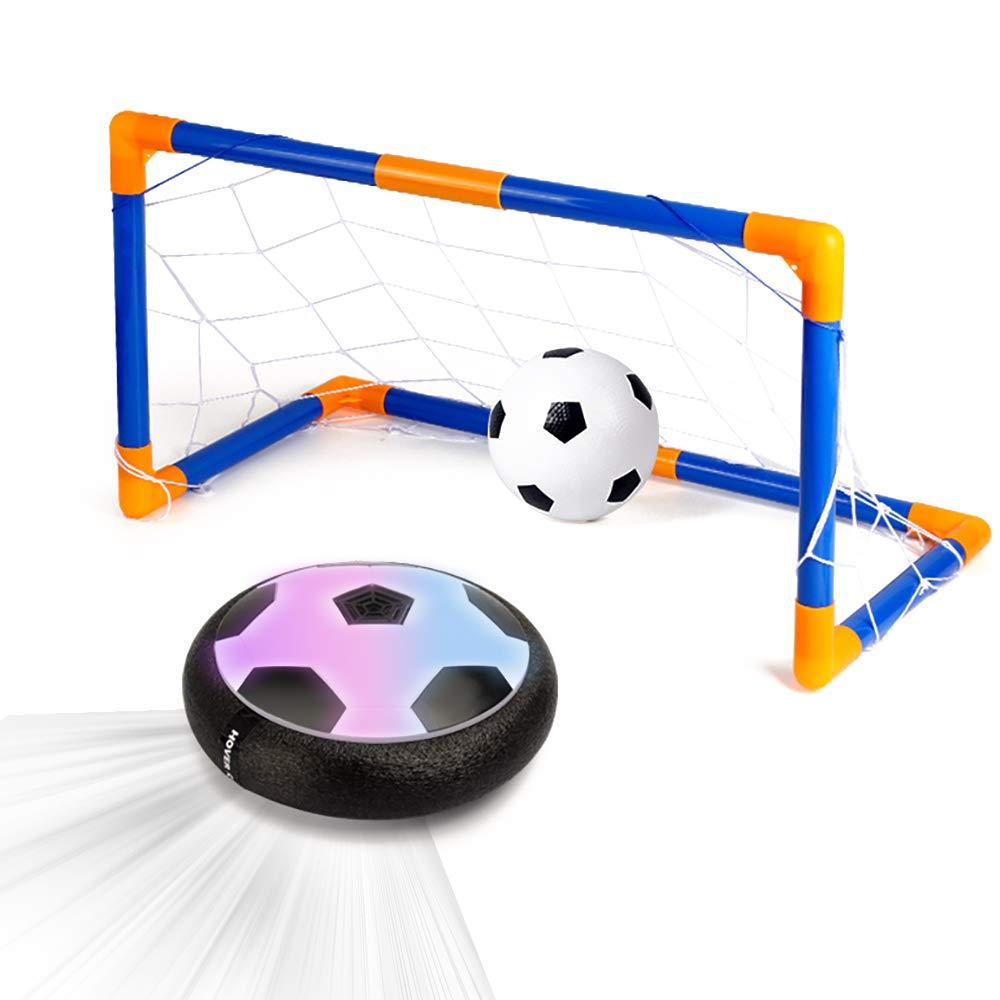 Xplanet ホバーボール サッカーボール 屋内 子供 おもちゃ LEDホバーボールセット ゴール2個 エアサッカーディスクフォームバンパーインドアゲーム サッカー玩具 1 2 3 4 5 6 7 8 9 10 11 12歳 男の子 女の子 ギフトに最適 B07JPJSYR2