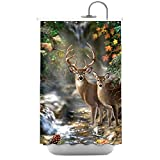 Deer in the Jungle Polyester Fabric Bathroom Shower Curtain 48*72Inch