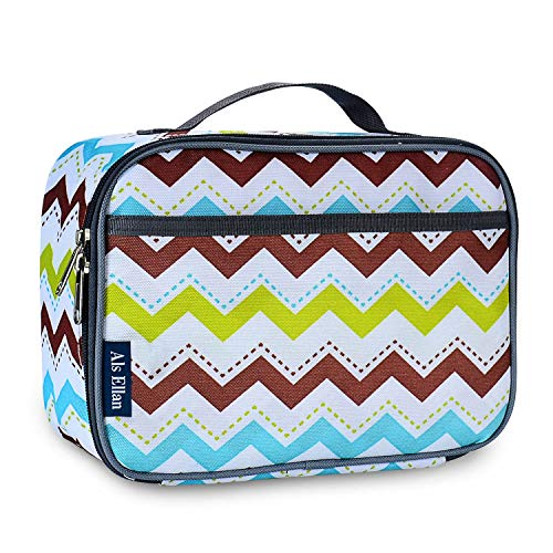Als Ellan Kids Lunch Bag Premium Thermal Insulated Lunch Organizer Lunch Container for Picnic, Boating, Beach, Fishing, School, Work (colorful strips)