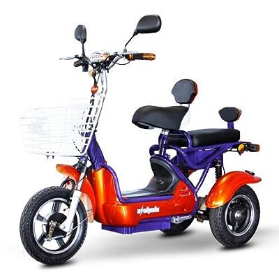 E-Wheels EW-27 Crossover Pre-Mobility Scooter - Orange-Blue
