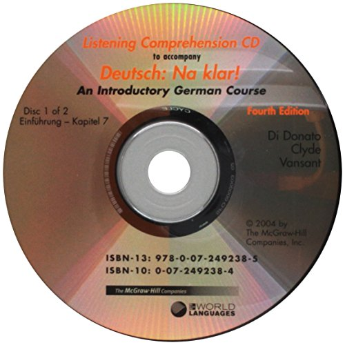 Listening Comprehension Audio CD (Component) to accompany Deutsch: Na klar! An Introductory German Course