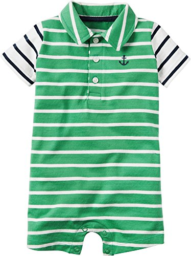 Carter's Baby Boys Striped Polo Romper